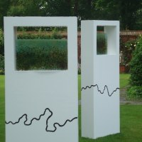 'Wonder Nature II (abstract Rectangular garden sculptures)' by Abu Jafar