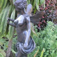 'Little Angel (Bronze Classically Inspired Small garden/Yard nude statue)' by Anon of the East