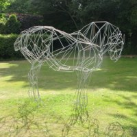 'Suffolk Punch (Metal Frame Standing Heavy Horse life size statues)' by Emma Walker