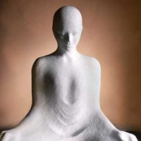 'Contemplation (Beautiful Modern Minimalist Seated Buddha statues)' by Ginger Gilmour