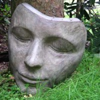 'The Sleeper (Large Bronze Lovely Womans Face statues/masks/sculptures)' by Jilly Sutton