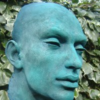'Othello (Male Bust/Head garden/Yard statue for sale)' by Lucy Kinsella