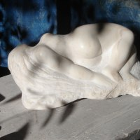 'Dreamscape (marble Sleeping nude Girl sculptures)' by Michael Hipkins