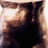 'Partial Torso (Bronze nude Girl`s Bottom and Stomach Yard/garden statue)' by Neale Andrew