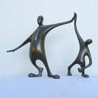 Aspirational / Inspirational Sculpture or Statues by sculptor artist Plamen Dimitrov titled: 'Well done (Congratulations the Winner statuette statue)' in Bronze