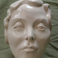 Busts and Heads Sculpture Statues statuettes Commissions Bespoke Custom Portrait Memorial Commemorative sculpture or statue by sculptor artist Richard Austin titled: 'Arte Deco (female Head Bust Limited Edition statue)' in Resin composite