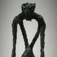 Figurative Abstract Modern or Contemporary Sculpture Statues statuary statuettes figurines by sculptor artist Richard Austin titled: 'Sorrow' in Bronze resin