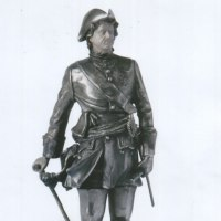 Proud of Pride In Self Confidence sculpture statue statuette by sculptor artist Sergey Antonenko titled: 'Peter I (Peter the Great Miniature Silver statuette)' in Silver