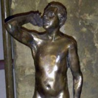 'Modern nude (Small/Little Bronze Naked Man statues)' by Simon Mahoney