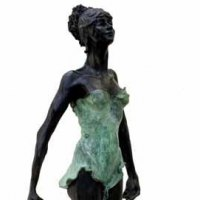 'Points (Beautiful female Girl Woman Ballet Dancer Ballerina statues)' by Sue Riley