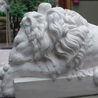 'Baroque Lion after Canova (stone resin sculpture)' by Thomas Brown