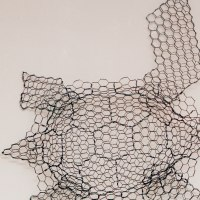 Wild Animals and Wild Life Sculpture by sculptor artist William Ashley-Norman titled: 'Turtle (life size Wire Mesh Wall Hanging Indoor Outside sculpture)' in Chickenwire
