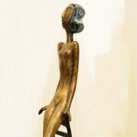 Teenagers Sculpture statuettes Portraits figurines commissions etc by sculptor artist Zakir Ahmedov titled: 'Young Girl (nude Young Naked Teenager Girl sculpture)' in Bronze