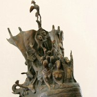 Wild Animals and Wild Life Sculpture by sculptor artist Zakir Ahmedov titled: 'Nuhs Ship (Bronze Noah`s Ark Religeous sculpture)' in Bronze