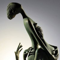 Nude Garden Yard Outdoor Outside Sculpture Statues by sculptor artist Zakir Ahmedov titled: 'Only you 1999 year Bronze 60x24x17cm' in Bronze