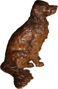 Bronze, also avail in bronze resin POA Dogs sculpture by Camilla Le May titled: 'Golden Retriever (Half life size Bronze Commission/Custom sculptures)'