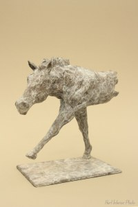 Partial Animal Sculpture Fragment or Part or Incomplete Statues statuettes by sculptor artist Edward Waites titled: 'Striding Horse (Little/Small Contemporary Bronze statuette/sculpture)' in Bronze