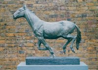 Cold cast bronze Horses Small, for Indoors and Inside Display sculpturettes Sculptures figurines commissions commemoratives sculpture by sculptor Graham High titled: 'RUNNING HORSE'