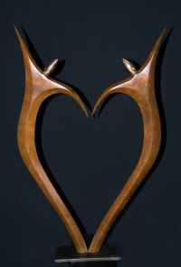 Bronze Love / Affection sculpture by Ket Brown titled: 'AMOUREUX - (IN LOVE)'