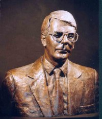Busts and Heads Sculpture Statues statuettes Commissions Bespoke Custom Portrait Memorial Commemorative sculpture or statue by sculptor artist Neale Andrew titled: 'Sir John Major, Prime Minister (Bronze Bust sculpture)' in Bronze