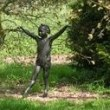 Bronze Resin Garden Or Yard / Outside and Outdoor sculpture by sculptor Alan Biggs titled: 'Mara (Little Girl Dancing garden Yard Outdoor Cold Cast statues)' - Artwork View 3