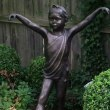 Bronze Resin Garden Or Yard / Outside and Outdoor sculpture by sculptor Alan Biggs titled: 'Mara (Little Girl Dancing garden Yard Outdoor Cold Cast statues)' - Artwork View 4