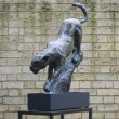 Bronze Cats sculpture by sculptor Edward Waites titled: 'Leopard Descent (1/2 life-size)' - Artwork View 2