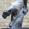 Bronze Cats sculpture by sculptor Edward Waites titled: 'Leopard Descent (1/2 life-size)' - Artwork View 4