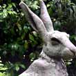 'Seated Hare (Large Outsize garden Yard sculptures)' by Lucy Kinsella