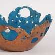 Bronze Focal Point Abstract Contemporary Modern sculpture sculpture by sculptor Philip Hearsey titled: 'Ancient Bowl (Turquoise Blue Decorative sculptures)' - Artwork View 4